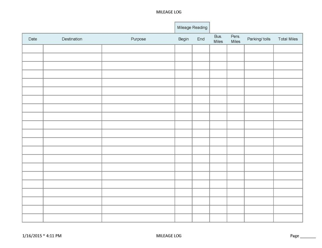 Free Ifta Spreadsheet With Regard To Mileage Forms For Taxes  Kasare.annafora.co