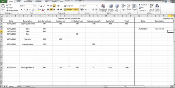 Free Income And Expenditure Spreadsheet Within Free Printable Spreadsheet Excel Spreadsheet Template For Expenses