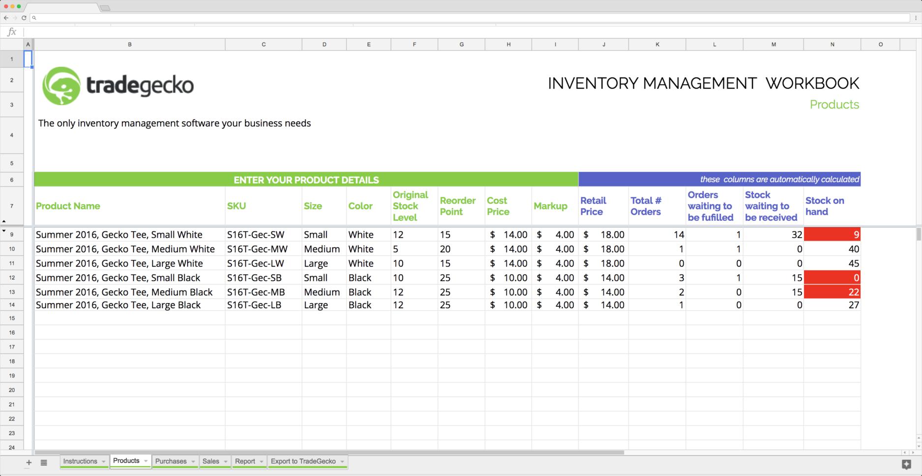 Free Inventory Spreadsheet Template Google Sheets With Top 5 Free Google Sheets Inventory Templates · Blog Sheetgo
