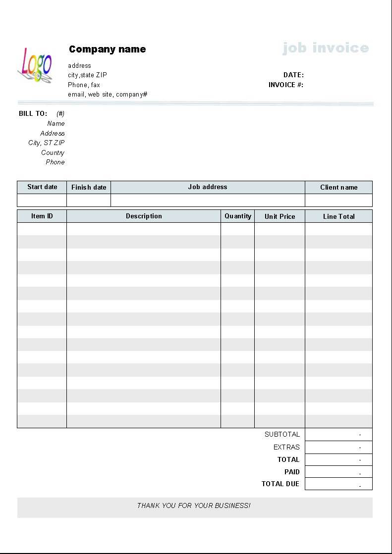 Free Invoice Spreadsheet Inside Free Invoice Templates And Free Invoice Templates To Fill In