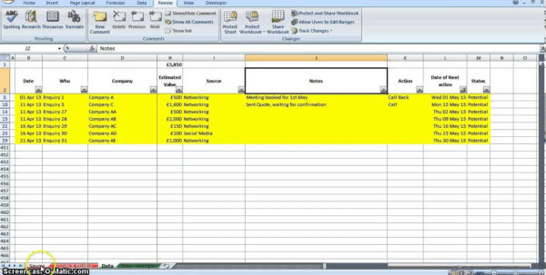 Free Lead Tracking Spreadsheet In Free Lead Tracking Spreadsheet Template Download  Homebiz4U2Profit