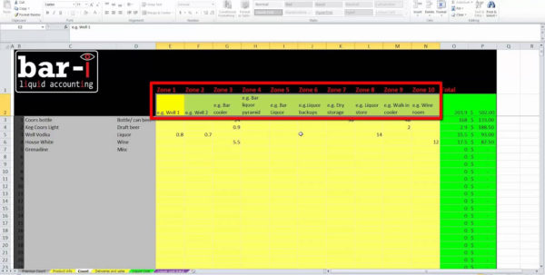 Free Liquor Inventory Spreadsheet Template Excel Within Alcohol Inventory Spreadsheet Bar I Free Liquor Instructions Youtube