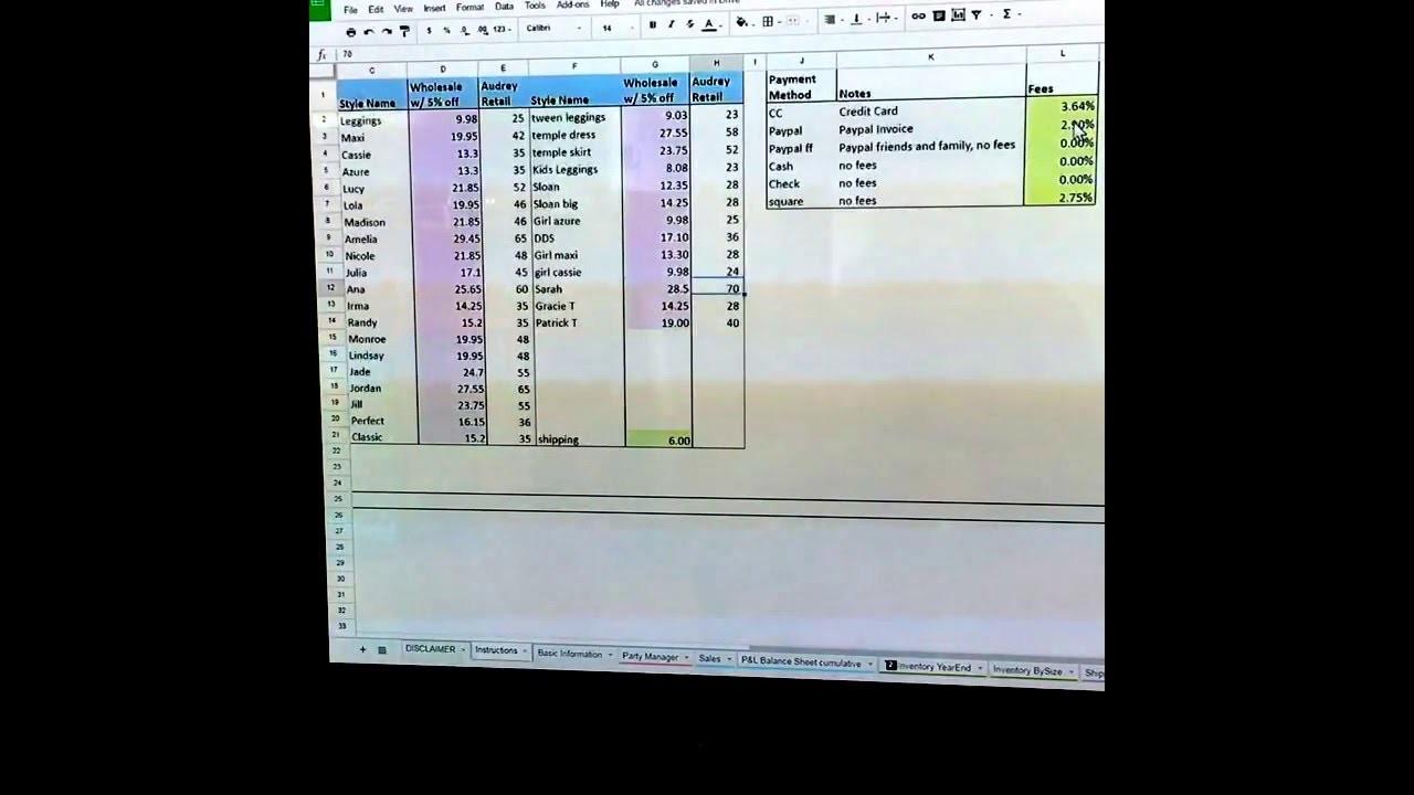 Free Lularoe Spreadsheet With Regard To Lularoe Business Manager Spreadsheet Youtube