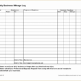 Free Mileage Log Spreadsheet With Regard To Tax Template For Expenses Printable Mileage Log 2017 Free Tafree