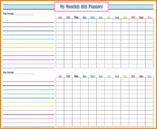Free Monthly Bill Organizer Spreadsheet Inside 012 Monthly Bill Organizer Template Excel Free Trackinget Budget