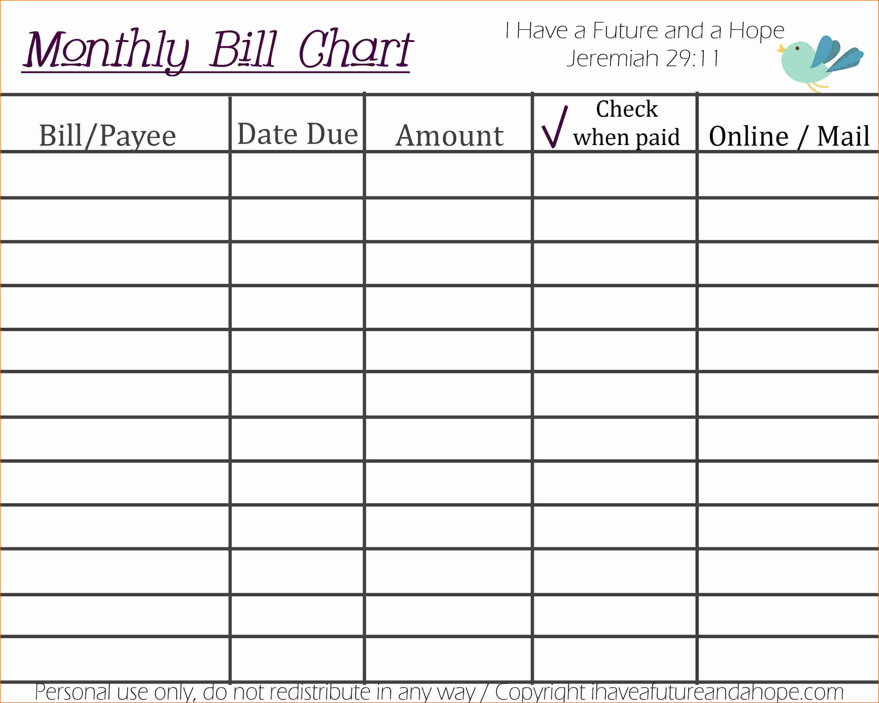 Free Monthly Bill Organizer Spreadsheet Throughout Free Printable Bill Organizer Template And Monthly With Plus