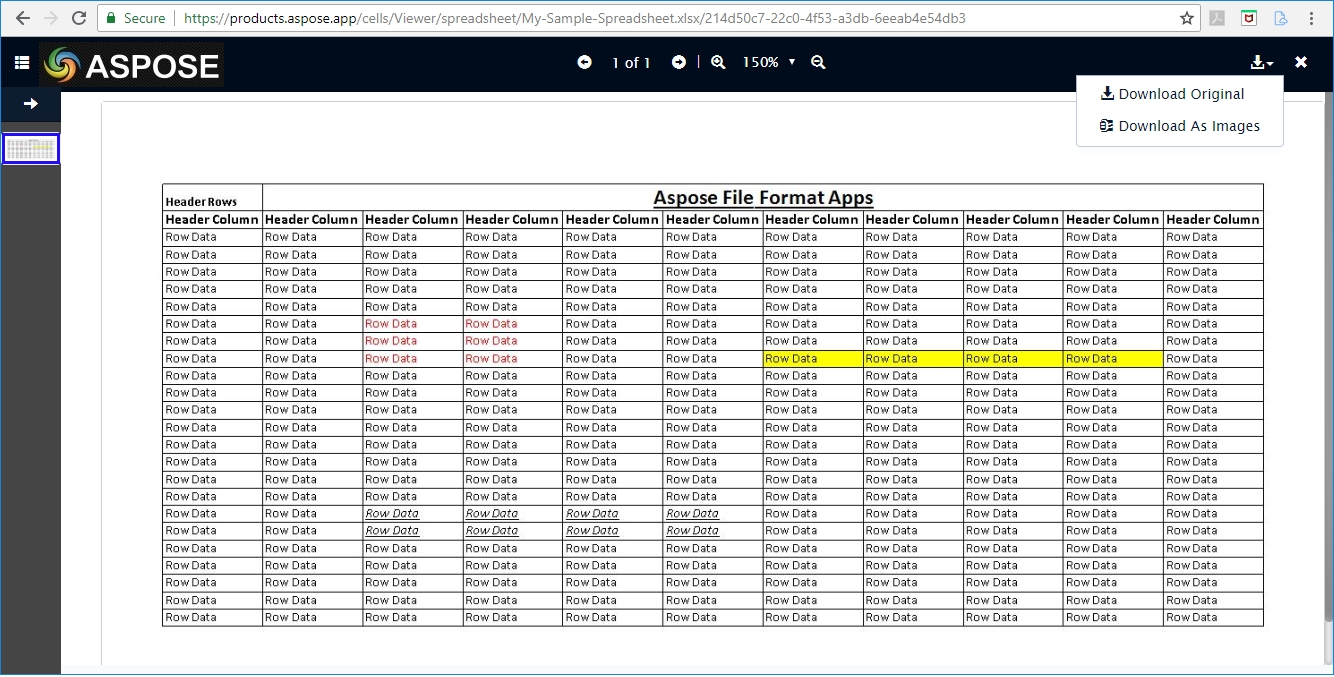 Free Online Spreadsheet With Free Online Aspose.cells Excel Spreadsheet Viewer App  File Format