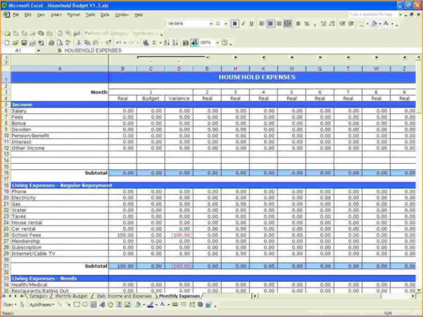 Free Personal Budget Spreadsheet Template Pertaining To Personal Budget Spreadsheet Template Uk Expense Free Expenses