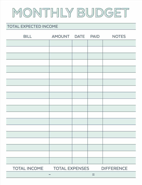 Free Personal Budget Spreadsheet Throughout Free Printable Budget Worksheet Template Templates In Excel For Any