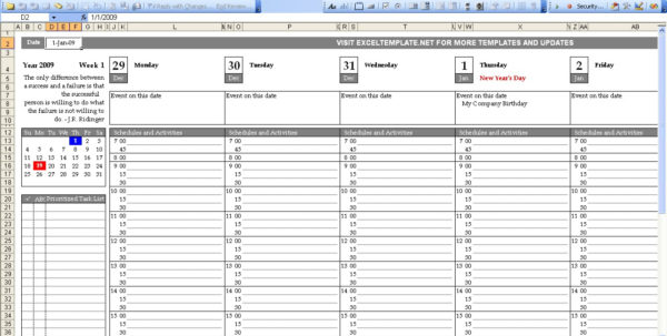 Free Printable Excel Spreadsheet Intended For Week Calendar Excel Spreadsheet  Rent.interpretomics.co