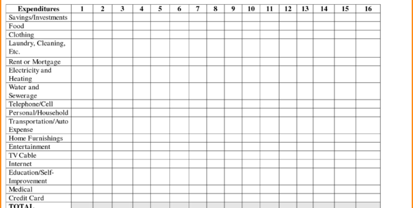 Free Printable Spreadsheet For Bills For Free Printable Monthly Bill Spreadsheet  Homebiz4U2Profit