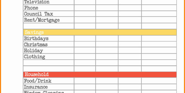 Free Printable Spreadsheet For Bills Pertaining To Printable Monthly Budget Planner Template Free Personal Invoice