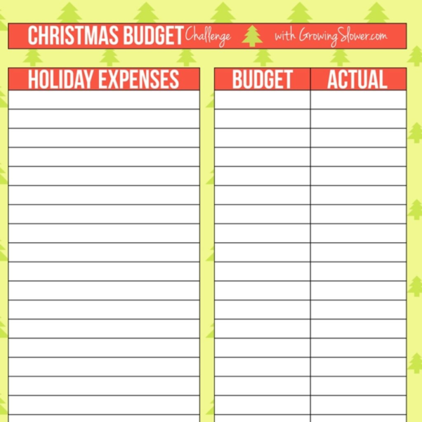 Free Printable Spreadsheet Intended For Christmas Budget Worksheet  Free Printable Spreadsheet For Free