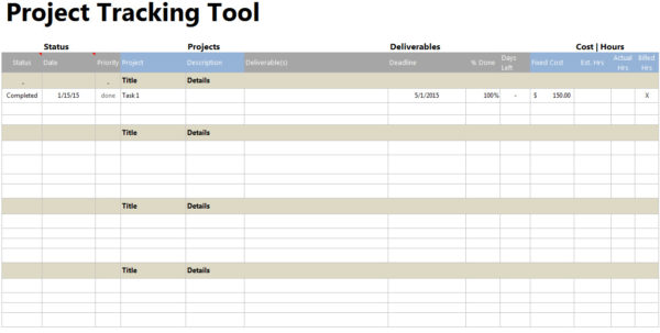 Free Project Tracking Spreadsheet In Freeoject Budget Tracking Spreadsheet Expense Template Time Tracker