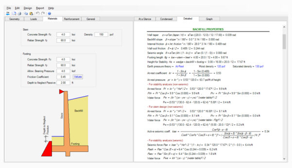 Free Retaining Wall Design Spreadsheet With Regard To Cantilever Pile Support Retaining Wall Design Software  Asdip Retain