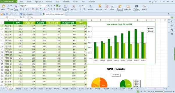 Free Spreadsheet Editor Inside Wps Office 10 Free Download, Free Office Software  Kingsoft Office