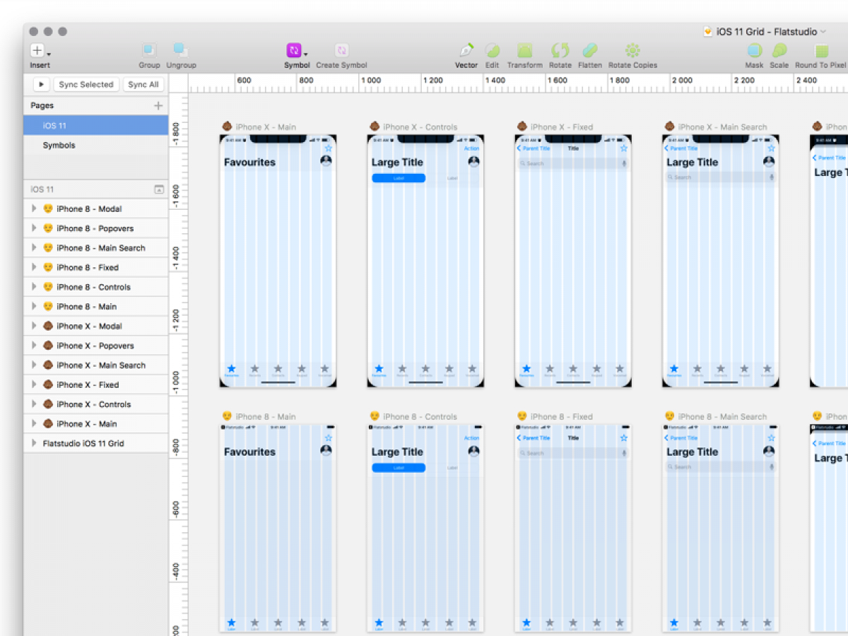 Free Spreadsheet For Iphone With Free Ios 11 Sketch Grid Template For Iphone X And Iphone 8  Home Of