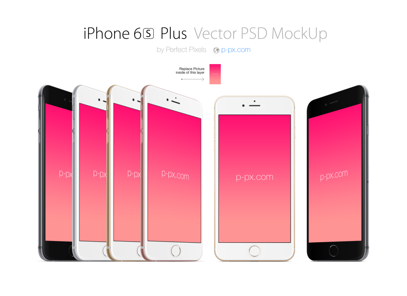 Free Spreadsheet For Iphone With Iphone 6S Plus Front And Angled Psd   Ai Vector Mockup. Perfect