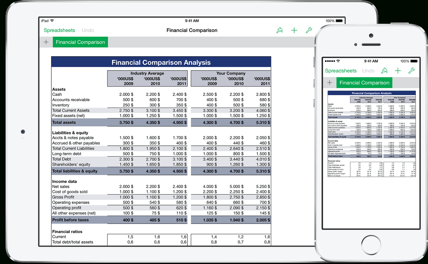Free Spreadsheet For Iphone With Templates For Numbers Pro For Ios  Made For Use