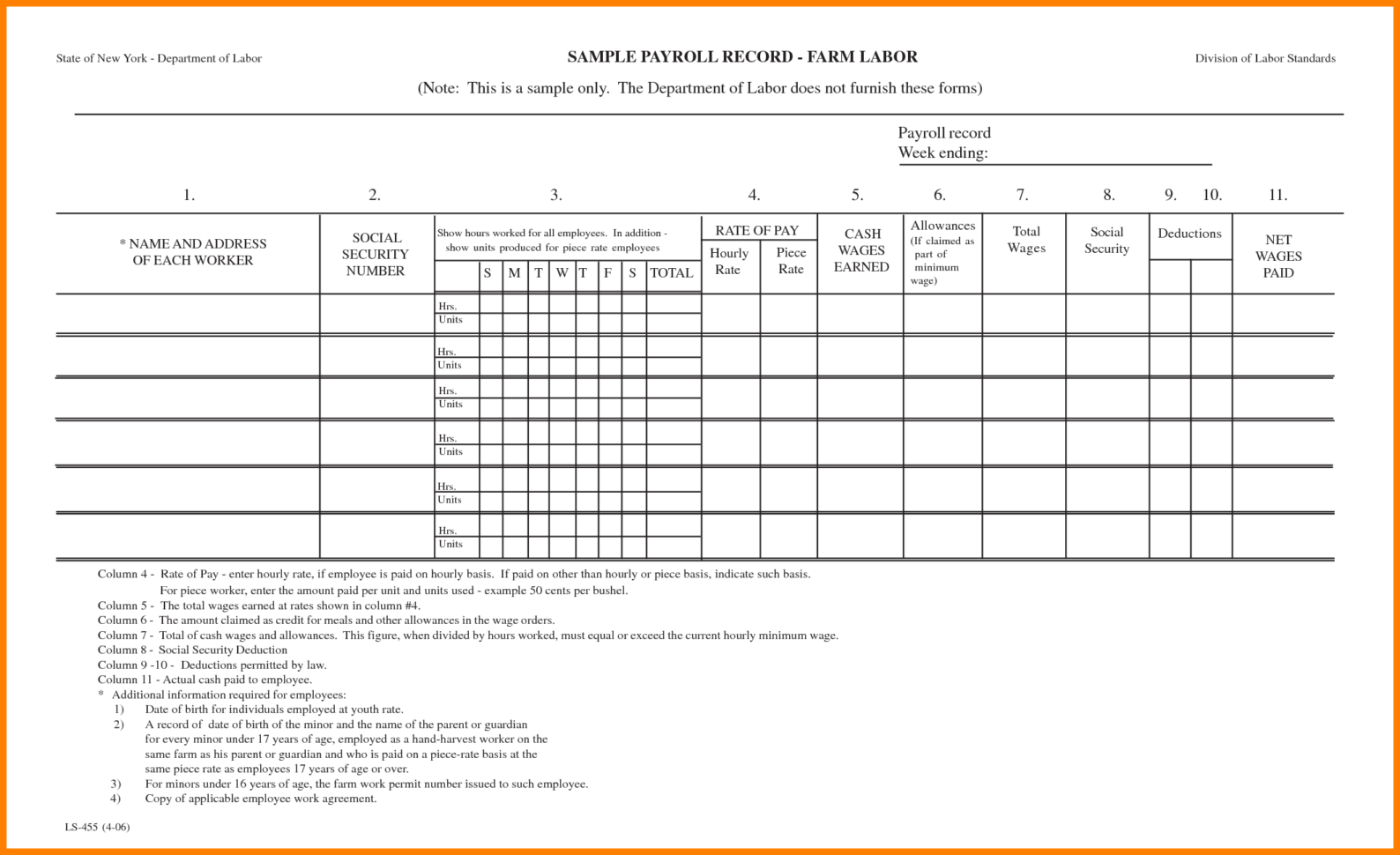 Free Spreadsheet Forms With Regard To Payroll Sheet Sample Free Printable Forms Maggihub Ruralco
