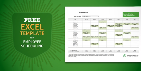 Free Staff Rota Spreadsheet Regarding Free Excel Template For Employee Scheduling  When I Work Free Staff Rota Spreadsheet Spreadsheet Download