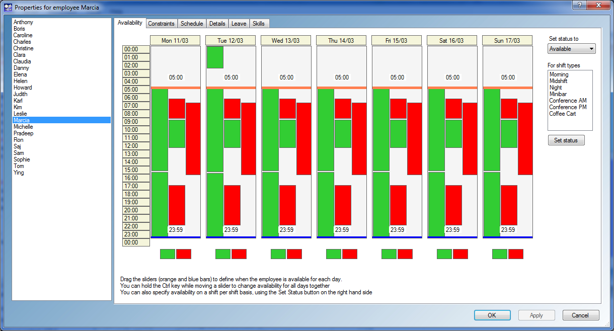 Free Staff Rota Spreadsheet Throughout Abc Roster  A Free Software Application For Employee Shift Scheduling