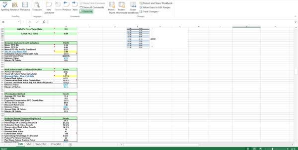 Free Stock Spreadsheet Inside Free Value Investing Stock Spreadsheet