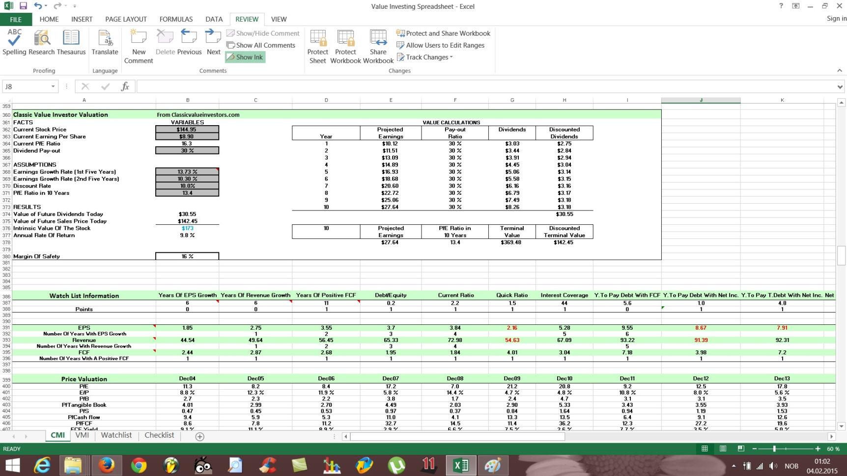 Free Stock Spreadsheet Pertaining To Free Value Investing Stock Spreadsheet