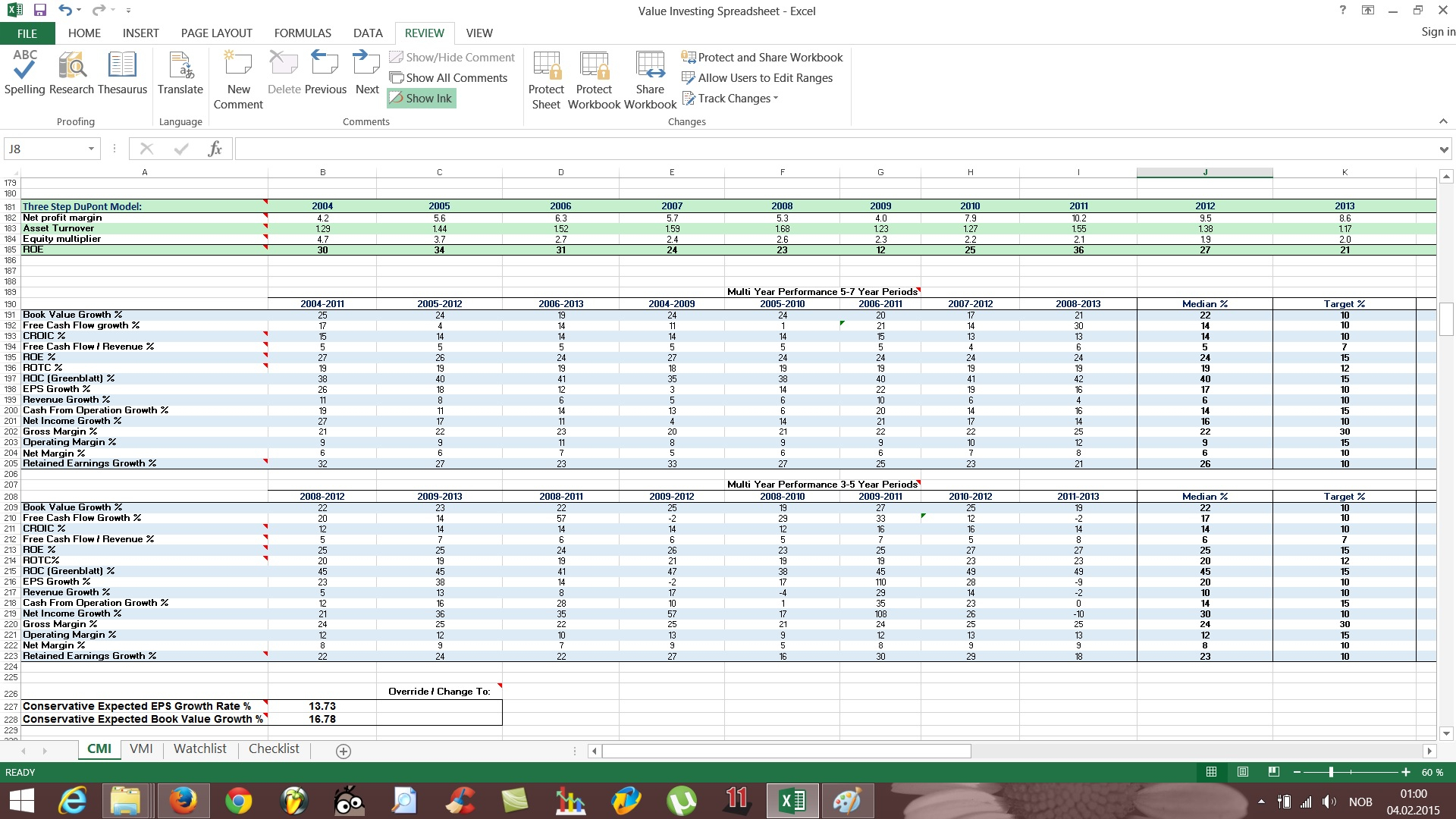 Free Stock Spreadsheet With Free Value Investing Stock Spreadsheet