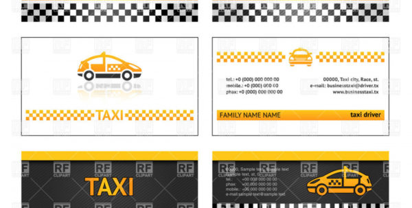 Free Taxi Driver Accounts Spreadsheet Within Simple Business Card Templates For Taxi Vector Image – Vector Taxi