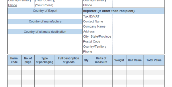 Free Vat Return Spreadsheet Template With Excel Export Invoice Template