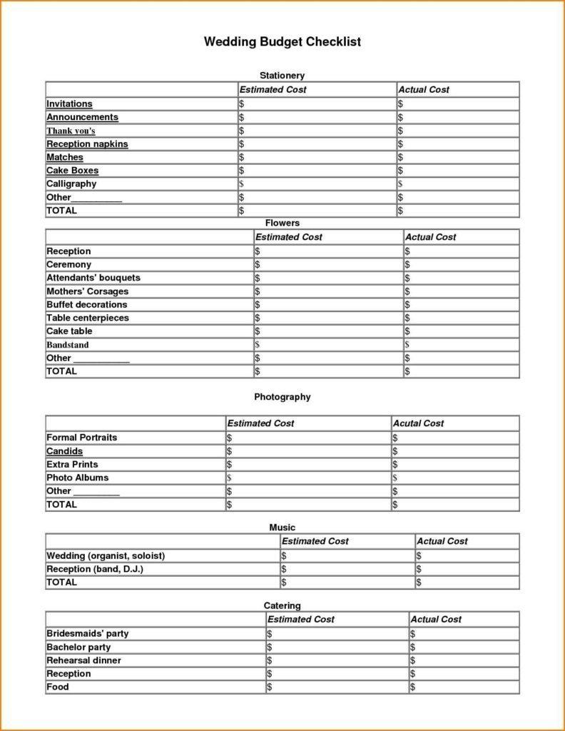 Free Wedding Budget Spreadsheet Pertaining To Spreadsheete Wedding Budget Free Melo In Tandem Co Checklist Kenya