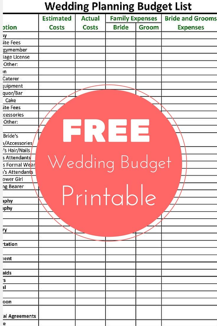 Free Wedding Planning Spreadsheet Inside Spreadsheet Free Wedding Planning Budget Checklist Printable