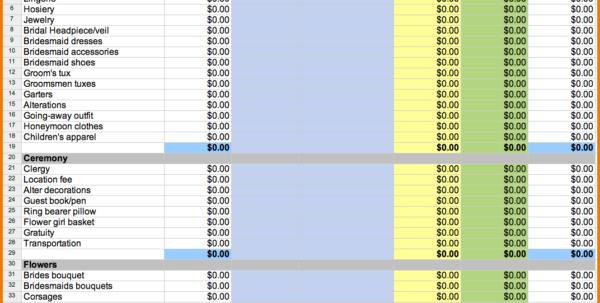 Free Wedding Spreadsheet Regarding Printable Wedding Expense List Wedding Spreadsheet Templates Wedding