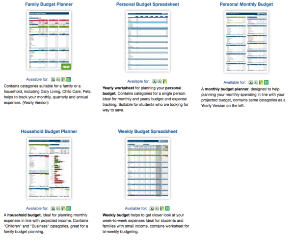 Free Weekly Budget Spreadsheet Inside 9 Useful Budget Worksheets That Are 100% Free