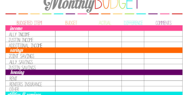 Free Weekly Budget Spreadsheet Throughout Budget Free  Rent.interpretomics.co