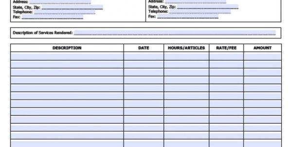 Freelance Spreadsheet Regarding Work Invoice Sample Freelance Writer Template Bonsai Spreadsheet Pdf