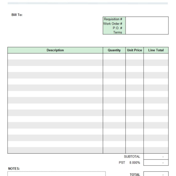 Freelance Spreadsheet Work Intended For Work Invoice Sample Estimate Templates With Spreadsheet Template Gst