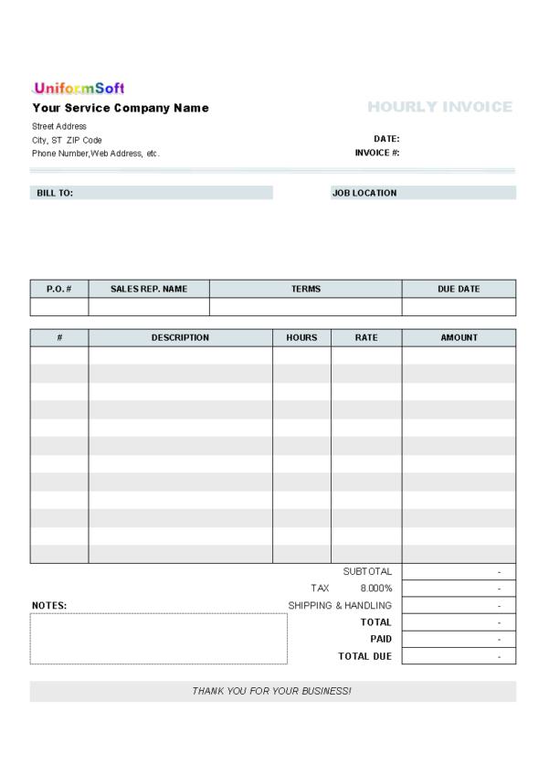 Freelance Spreadsheet Work Intended For Work Invoice Sample Spreadsheet Template Construction Gst Job Bill