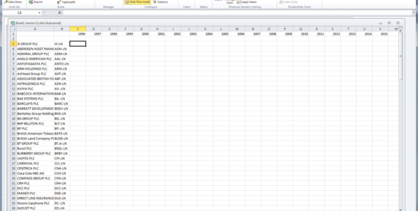 Ftse 100 Historical Data Spreadsheet Within Obtaining Historical Corporate Credit Ratings Data From Thomsonone