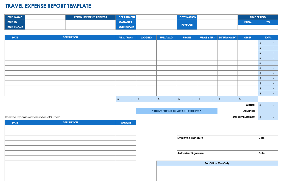 Fuel Expenses Spreadsheet Within Free Expense Report Templates Smartsheet