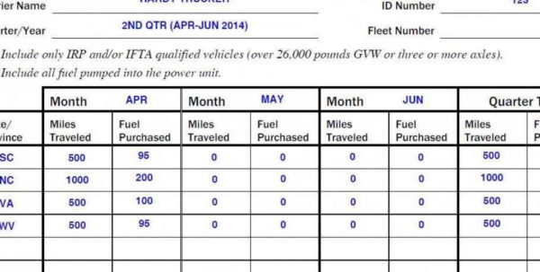 Fuel Spreadsheet With Ifta Spreadsheet Free Mileage Excel Sheet And Fuel Purchase Reports