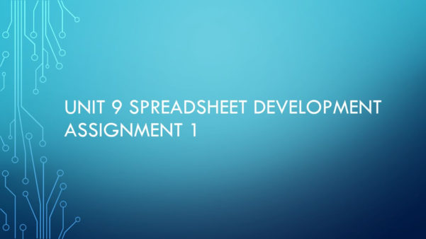 Functional Skills Ict Level 2 Spreadsheet Within Unit 9 Spreadsheet Development Assignment 1  Ppt Video Online Download