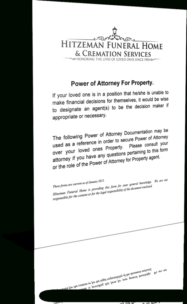 Funeral Budget Spreadsheet Within Power Of Attorney Forms  Hitzeman Funeral Home  Cremation Services