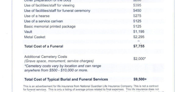 Funeral Cost Spreadsheet With Regard To Funeral Pre Planning Worksheet Excel Template