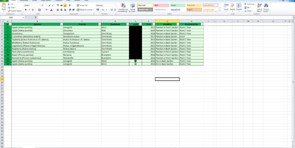 Garden Spreadsheet With Regard To Spreadsheet For Keeping Inventory On My Garden With A Nice Dashboard