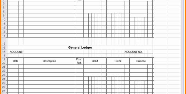 General Ledger Spreadsheet Template Excel For 8  General Ledger Templates Excel  Quick Askips