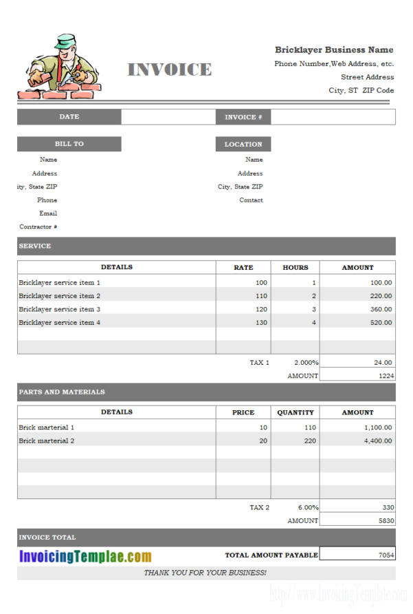 Generate Invoice From Excel Spreadsheet Regarding Excel Invoice Template With Automatic Numbering