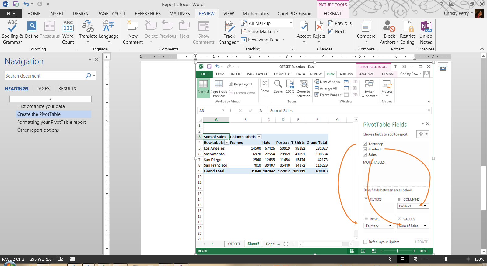 Generate Report From Excel Spreadsheet Within Creating Excel Reports  Pryor Learning Solutions