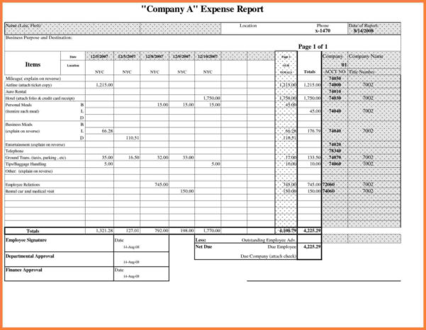 Generic Spreadsheet With Excel Expense Template – Excels Download